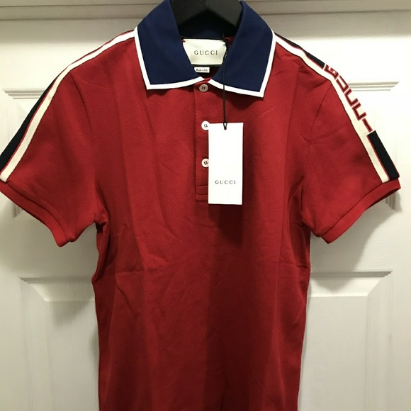 514574db Gucci Shirts   Mens Gg Pique Polo Red Nwt   Poshmark
